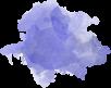 blue paint splotch