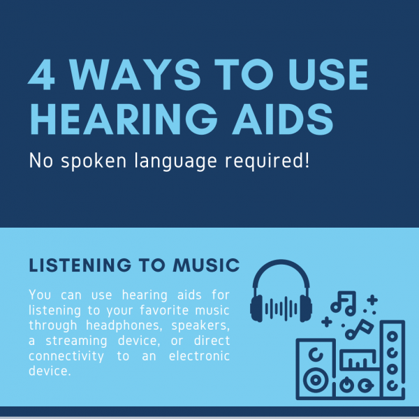 4 Ways to Use Hearing Aids: No Spoken Language Required