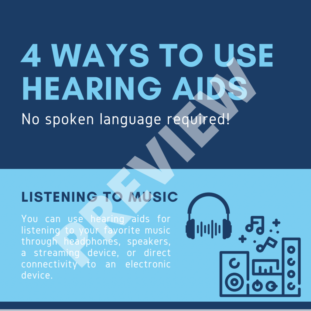 4 Ways to Use Hearing Aids No Spoken Language Required