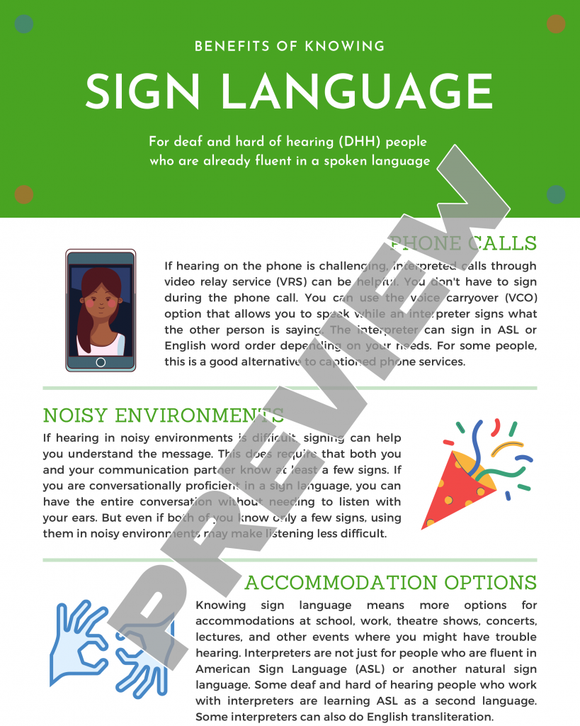 Benefits of Knowing a Sign Language When You Are Already Fluent in a Spoken Language