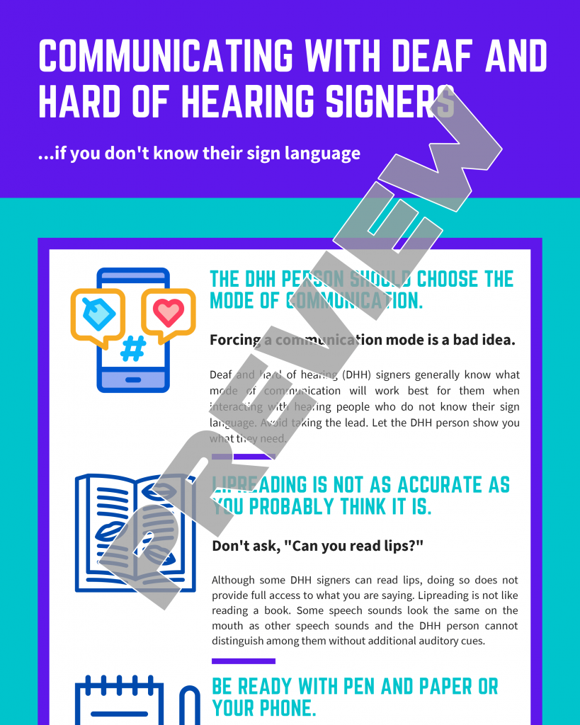 Communicating with a Deaf or Hard of Hearing Signer When You Don't Know Their Sign Language