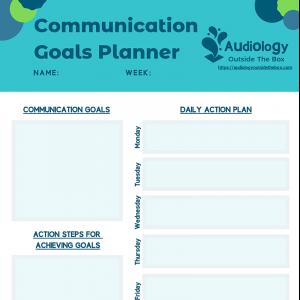 Communication Goals Planner