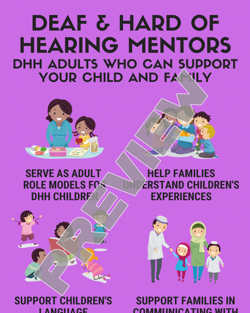 Deaf and Hard of Hearing Mentors