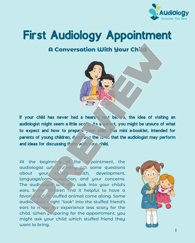 Mini eBooklet: First Audiology Appointment: A Conversation With Your Child