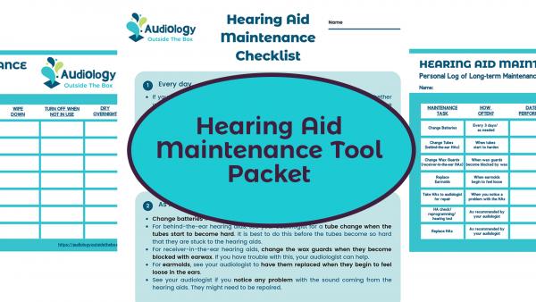 Hearing Aid Maintenance Tool Packet
