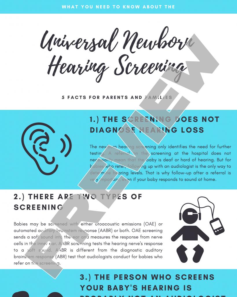 Universal Newborn Hearing Screening
