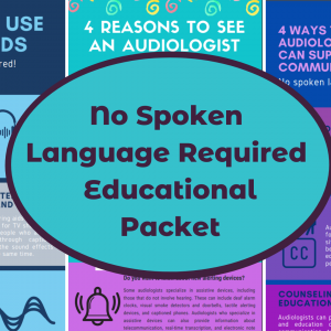 No Spoken Language Required Educational Packet Photo
