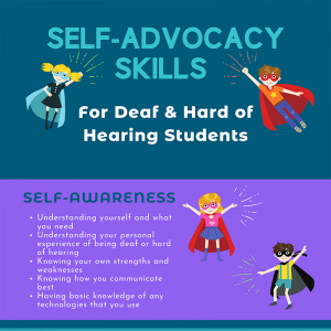 Self-Advocacy Skills for Deaf and Hard of Hearing Students