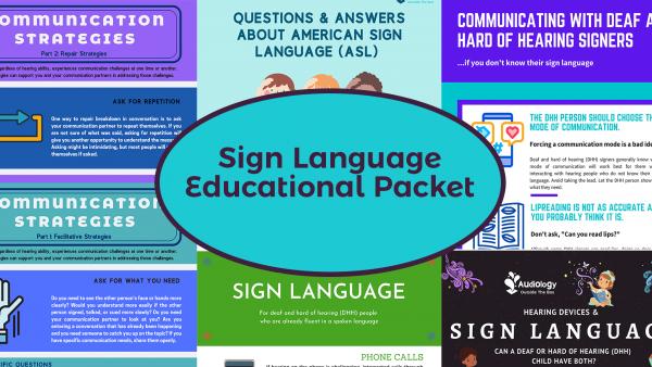 Sign Language Educational Packet