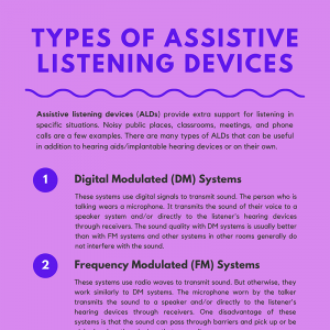 Types of Assistive Listening Devices