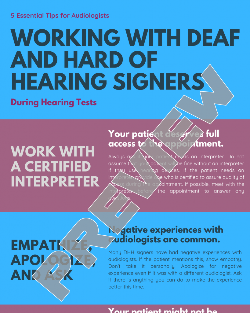 Working with Deaf and Hard of Hearing Signers During Hearing Tests