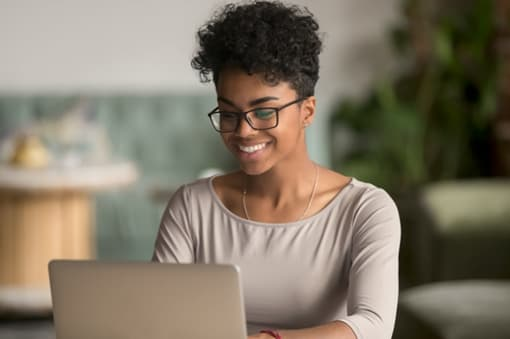 African American Woman at Laptop