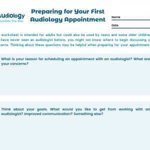 Preparing for your first audiology appointment
