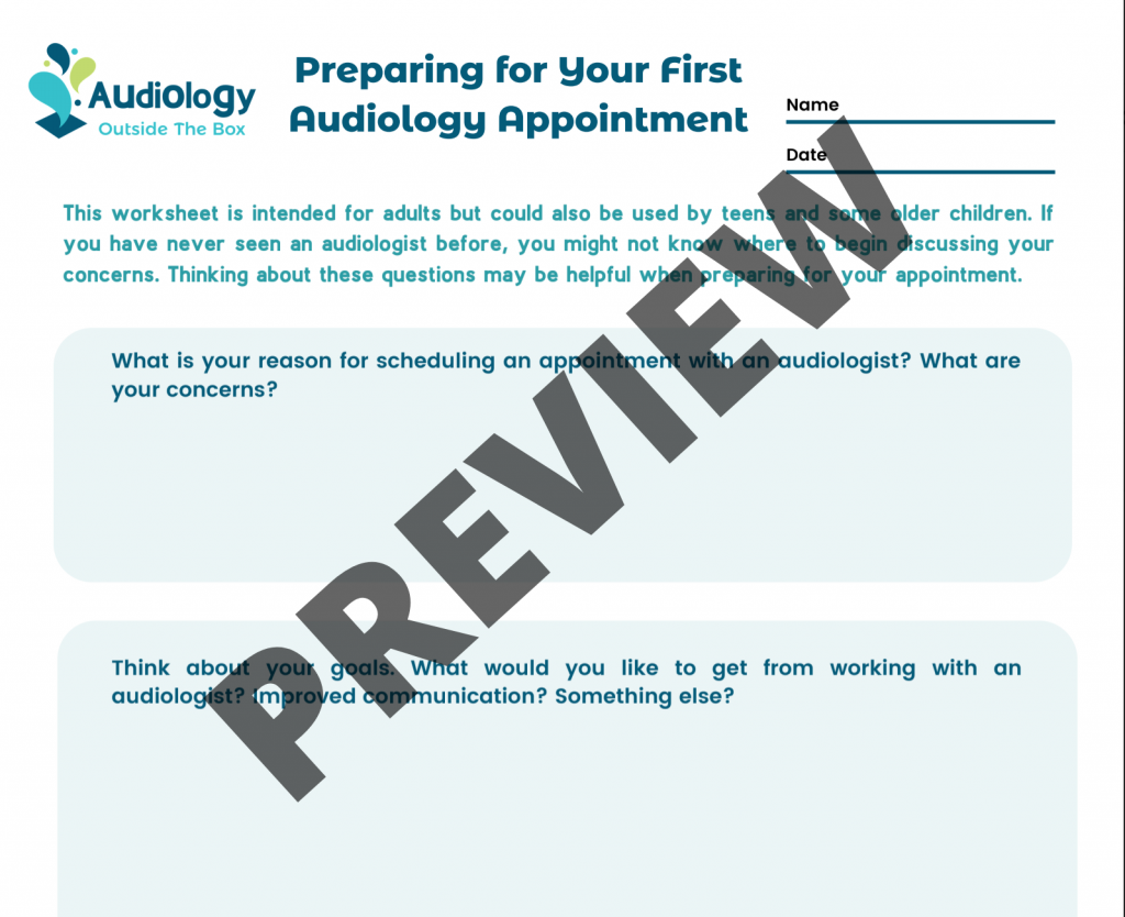 Preparing for your first audiology appointment Preview