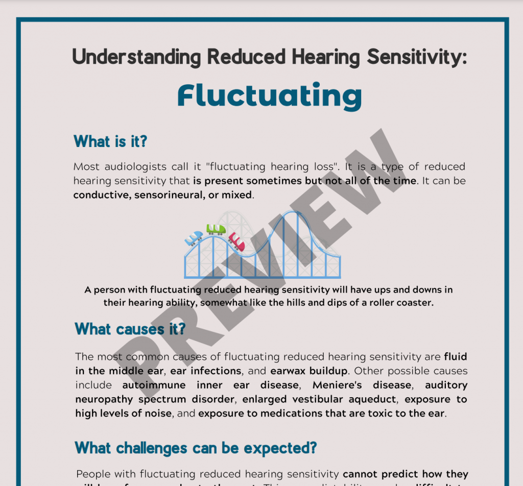 Understanding Reduced Hearing Sensitivity Fluctuating PREVIEW